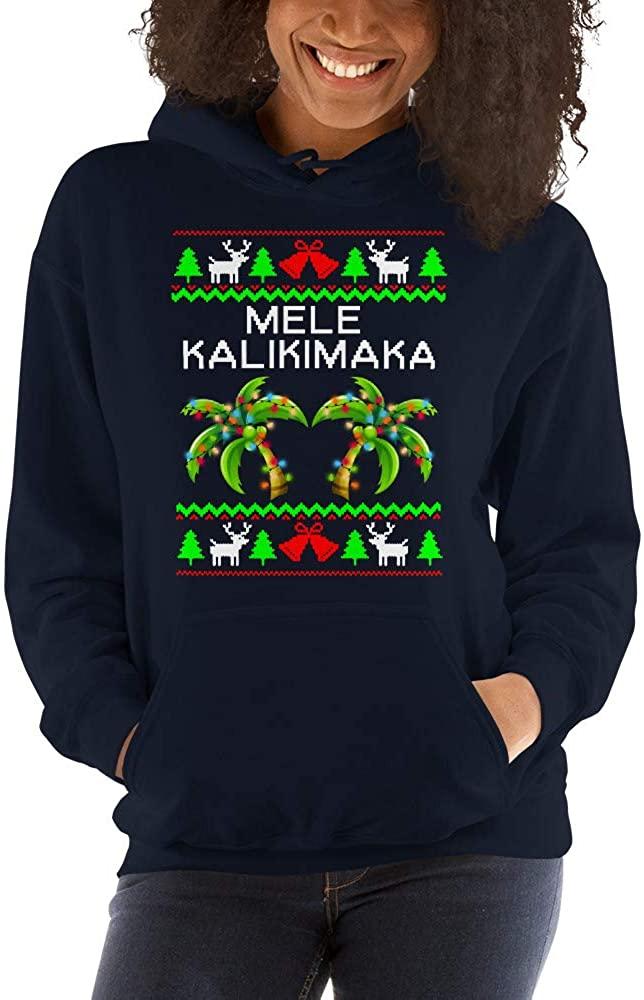 TEEPOMY Mele Kalikimaka Palm Hawaiian Christmas Unisex Hoodie
