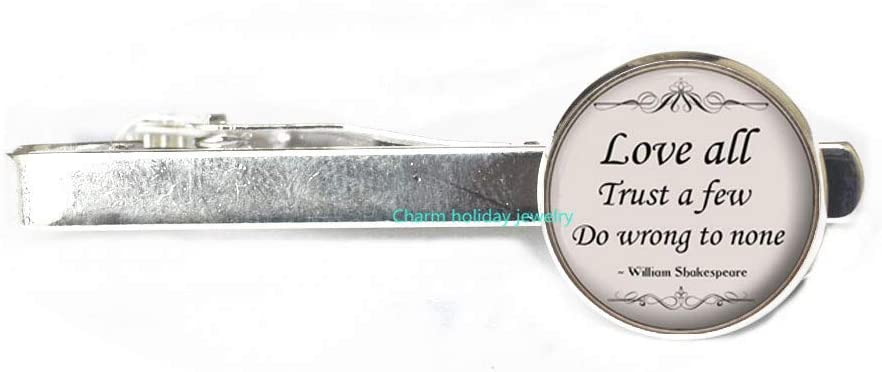 Love All Truth a Few Tie Clip-Poetry Quote Tie Pin-Silver Love All Jewelry Gift for Women and s-#265