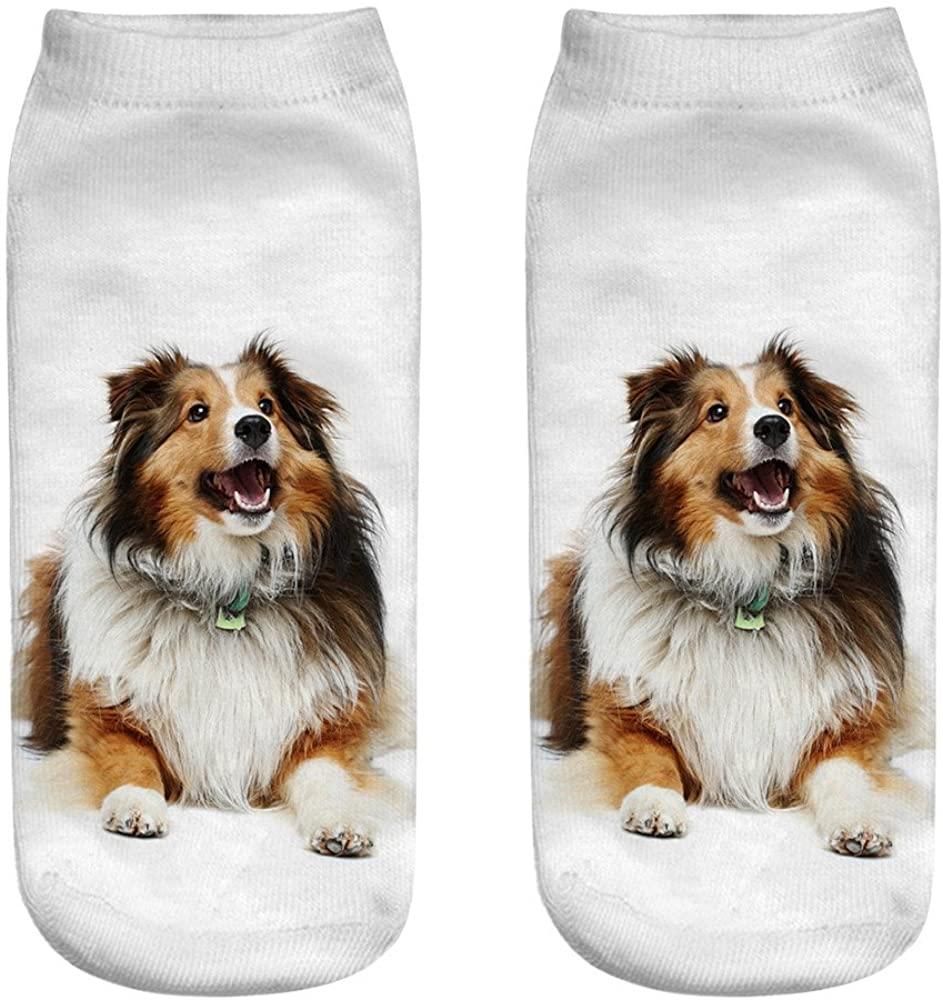 Bigfanshu Running Socks Cute Casual Cotton Sock 3D Printing Medium Cartoon Sports