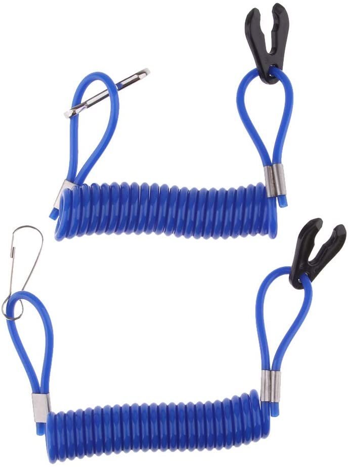 Homyl 2pcs Universal Safety Stop Kill Switch with Lanyard Cord for Mini Pocket Dirt Bike - Blue