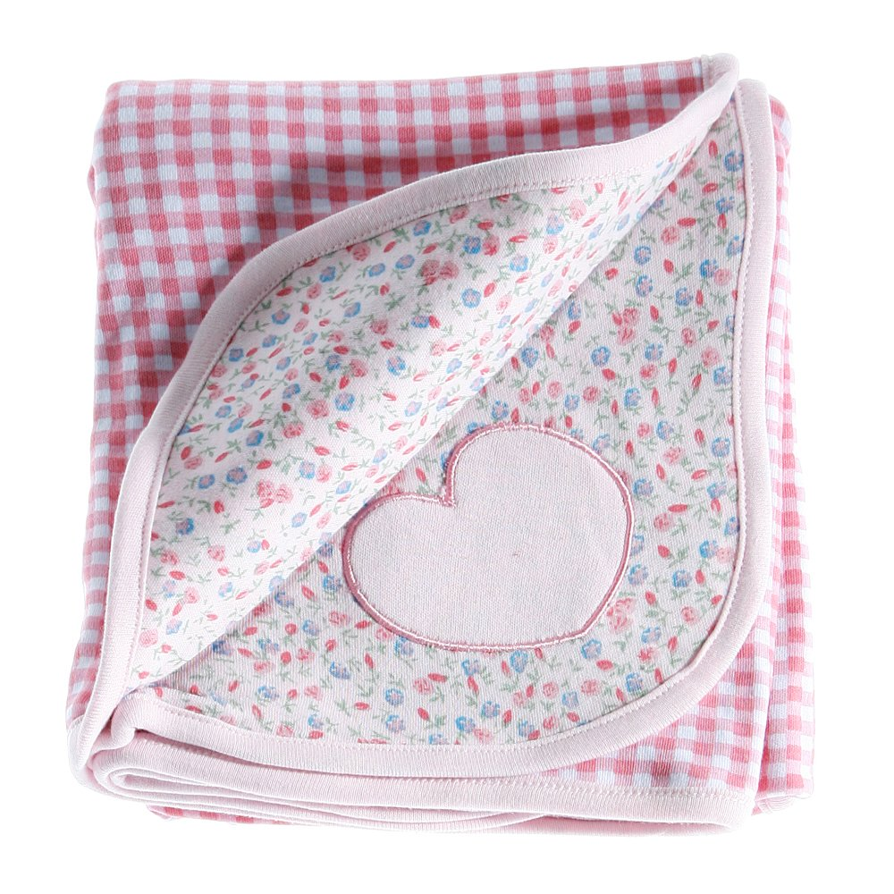 Anna Claire Beautiful Designed Baby Receiving Blanket, Double Sided Designs, Swaddle Blankets (Hannah)