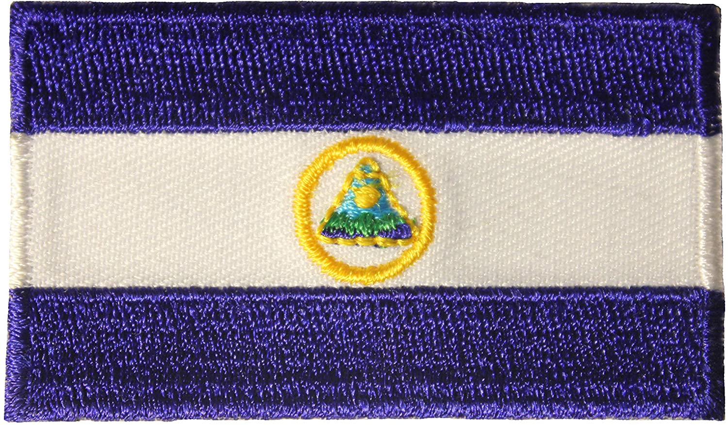 Nicaragua Country Flag Small Iron on Patch Crest Badge 1.5 X 2.5 Inches New