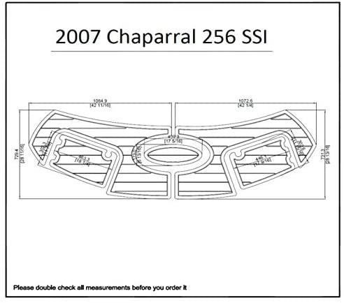 JZ 2007 Chaparral 256 SSI Swim Platform Pad 1/4 6mm Boat EVA Teak Decking