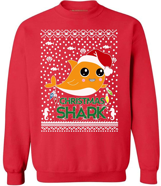 Awkward Styles Ugly Xmas Sweatshirt Christmas Cute Shark Sweater