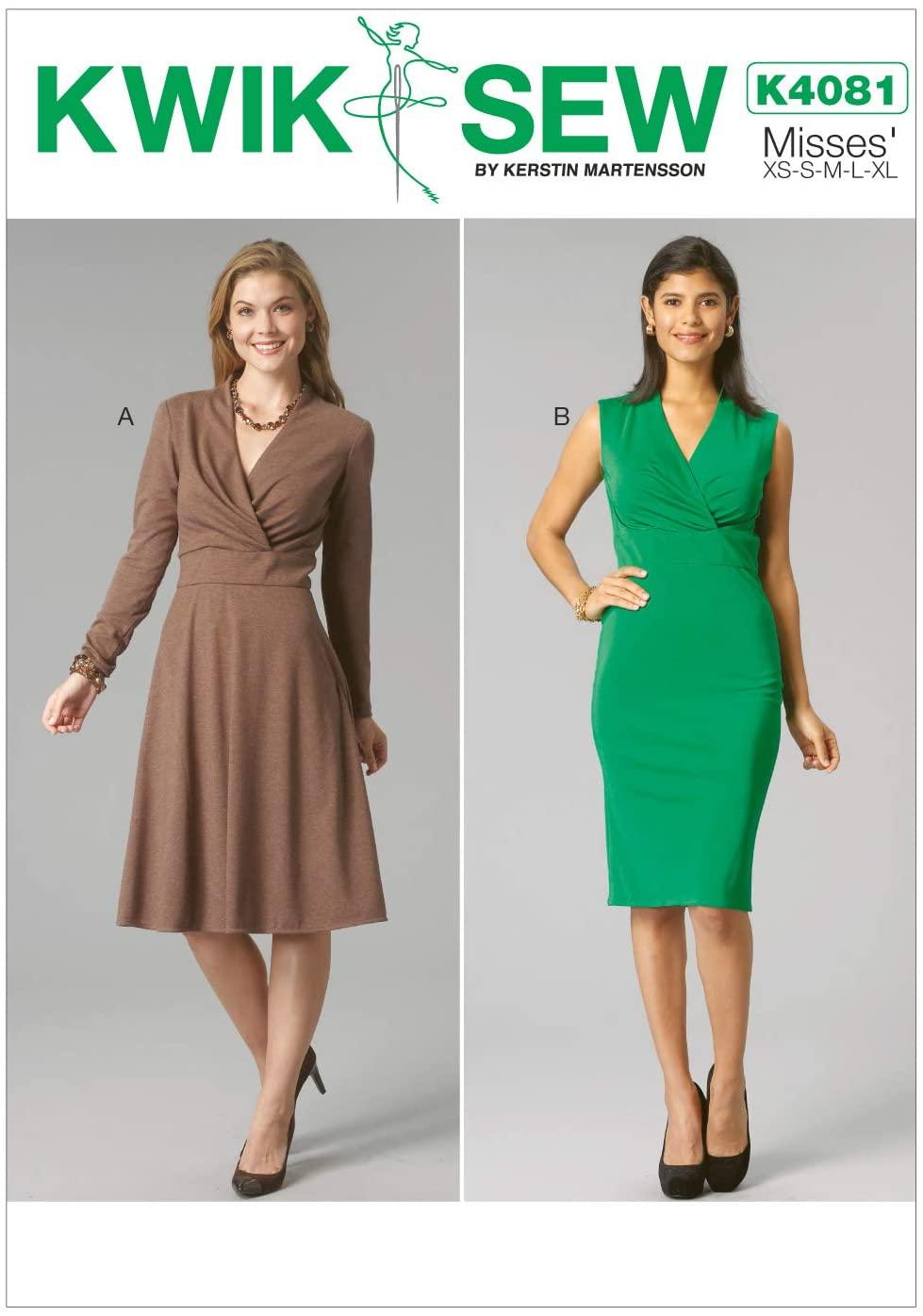 KWIK-SEW PATTERNS K4081 Misses' Dresses