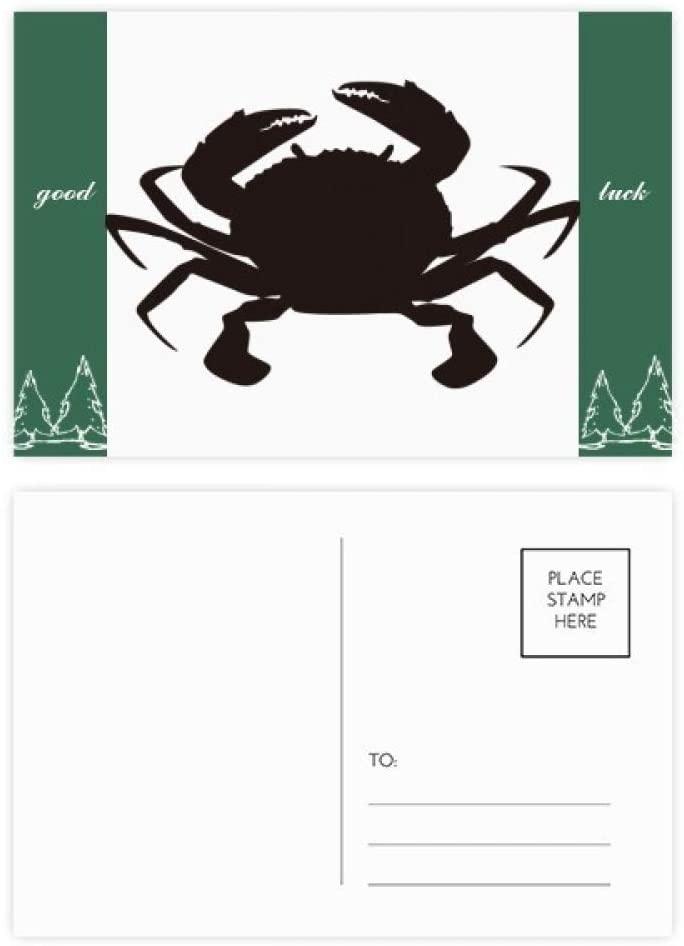 Black Crab Pattern Marine Organism Good Luck Postcard Set Card Mailing Side 20pcs