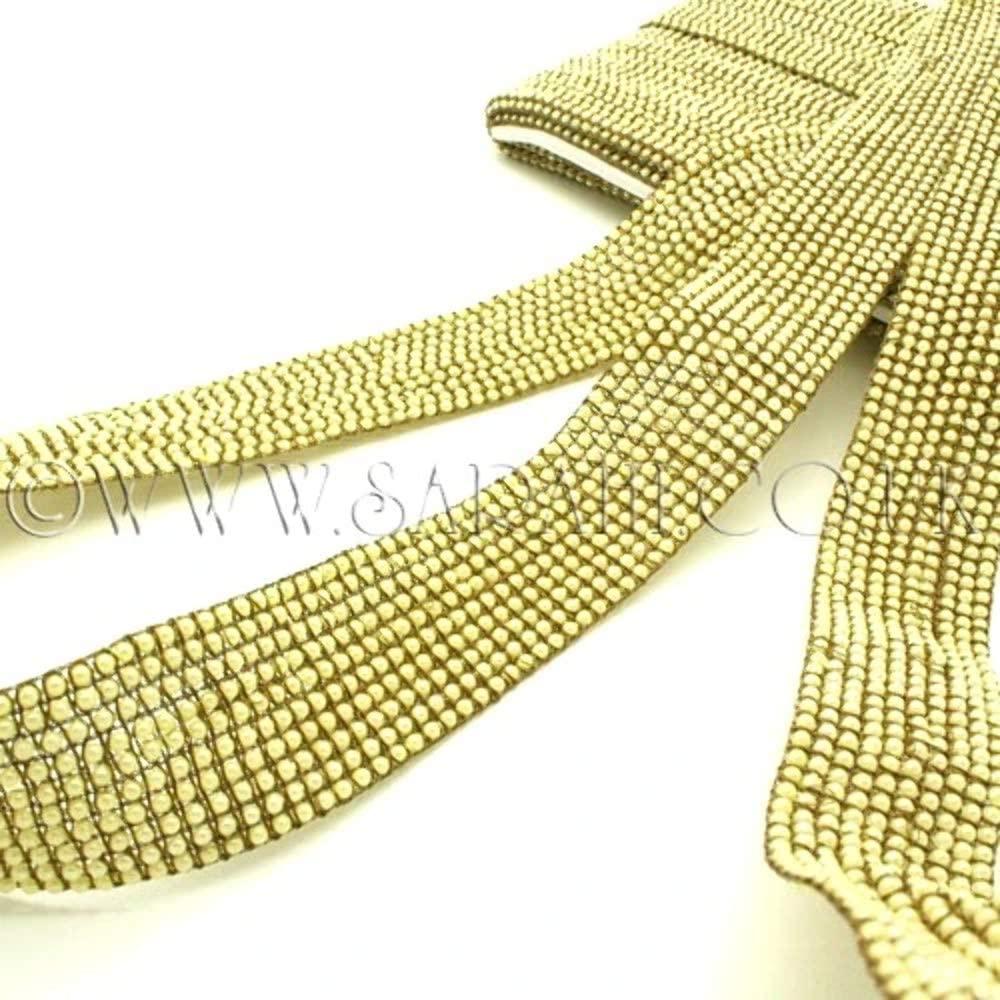 Gold Pearl Woven Trim - Sarahi.NYC