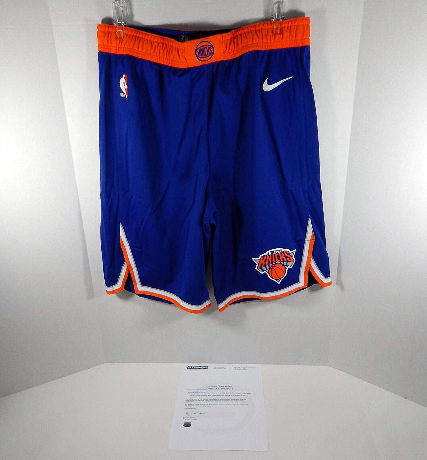 2018-19 New York Knicks Mitchell Robinson #26 Game Used Blue Shorts Pro Cut - NBA Game Used