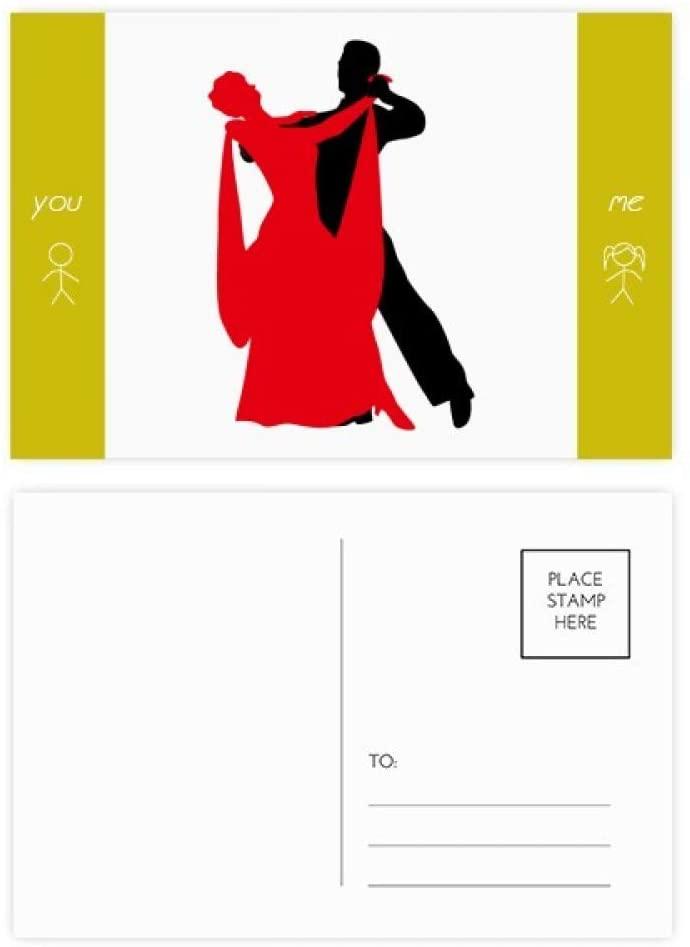 Social Dancing Duet Dance Dancer Friend Postcard Set Thanks Card Mailing Side 20pcs