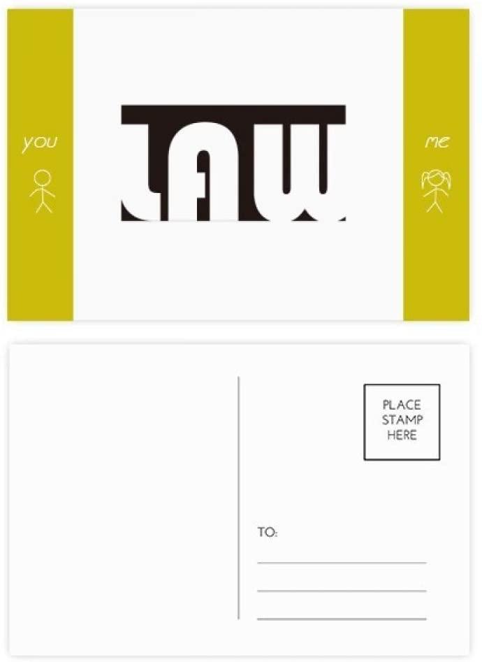 Course And Major Law Black Friend Postcard Set Thanks Card Mailing Side 20pcs