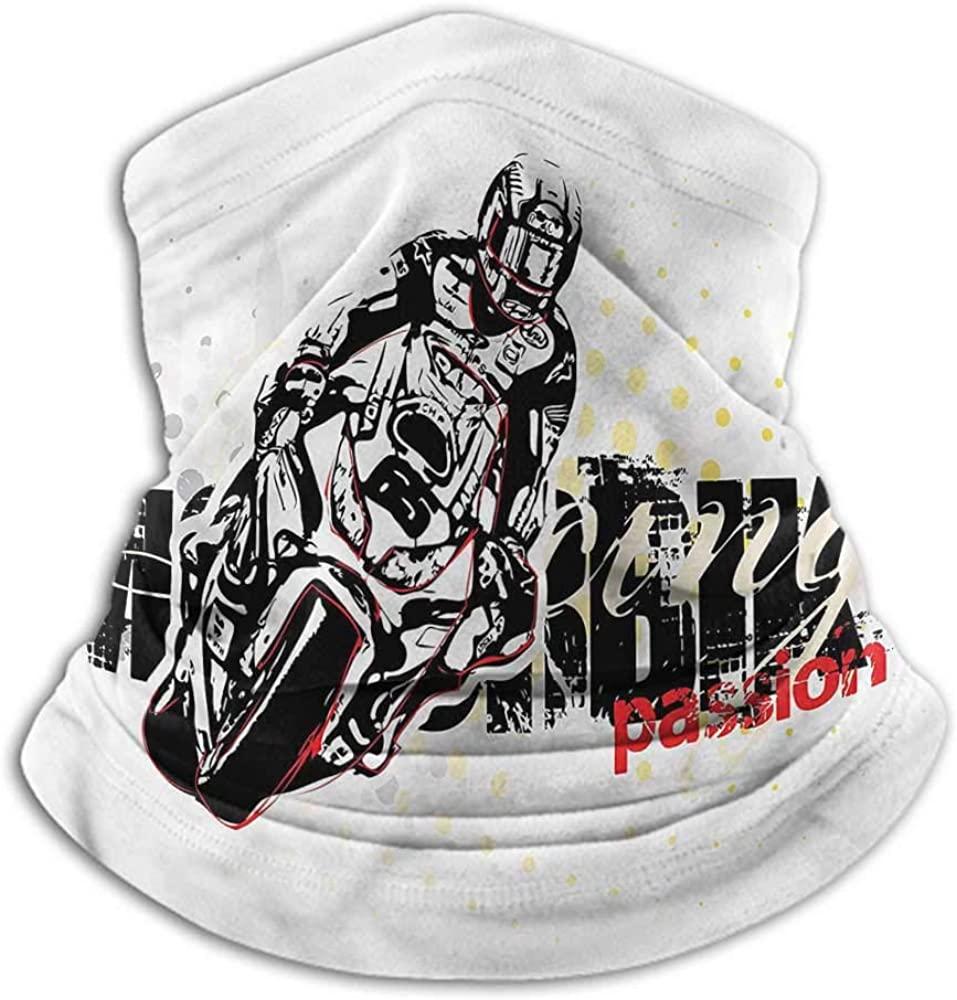 Seamless Face Bandana Motorcycle Unisex Anti-Dust Washable Grungy Race Passion 10 x 12 Inch