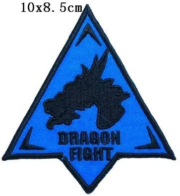 Dragon Fight Embroidery Patch Military Tactical Morale Patch Badges Emblem Applique Hook Patches for Clothes Backpack Accessories