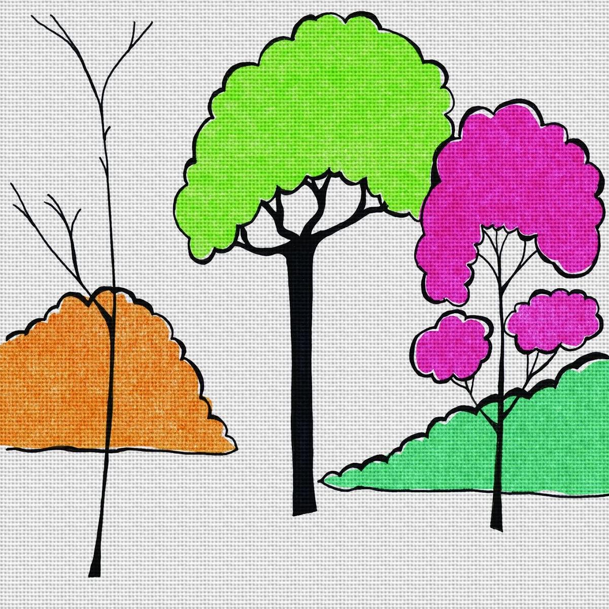 Art Needlepoint Pink Tree Needlepoint Kit by Perkins & Morley
