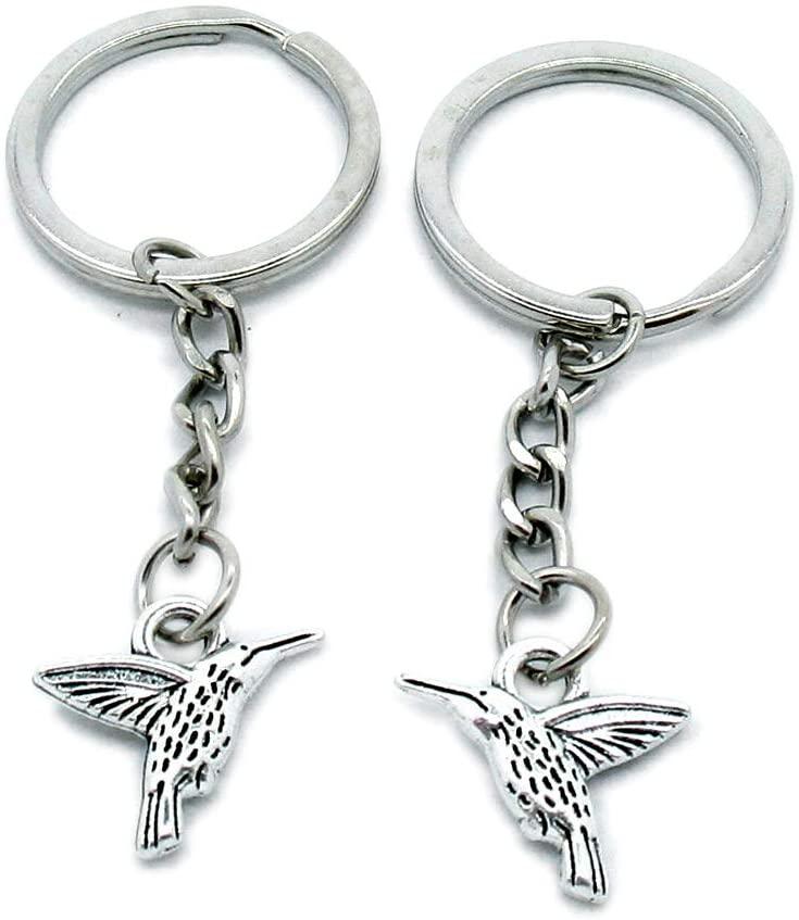 10 Pieces Keyring Keychain Wholesale Suppliers Jewelry Clasps J4RI1D Hummingbird Bird