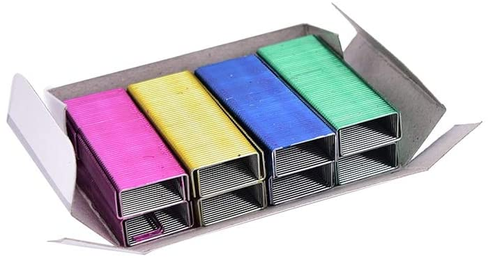 Clips 1Pack 12mm Creative Colorful Stainless Steel Staples Office Binding Supplies