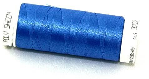 Mettler Polysheen Polyester Machine Embroidery Thread 200m 200m 3722 Empire Blue - each