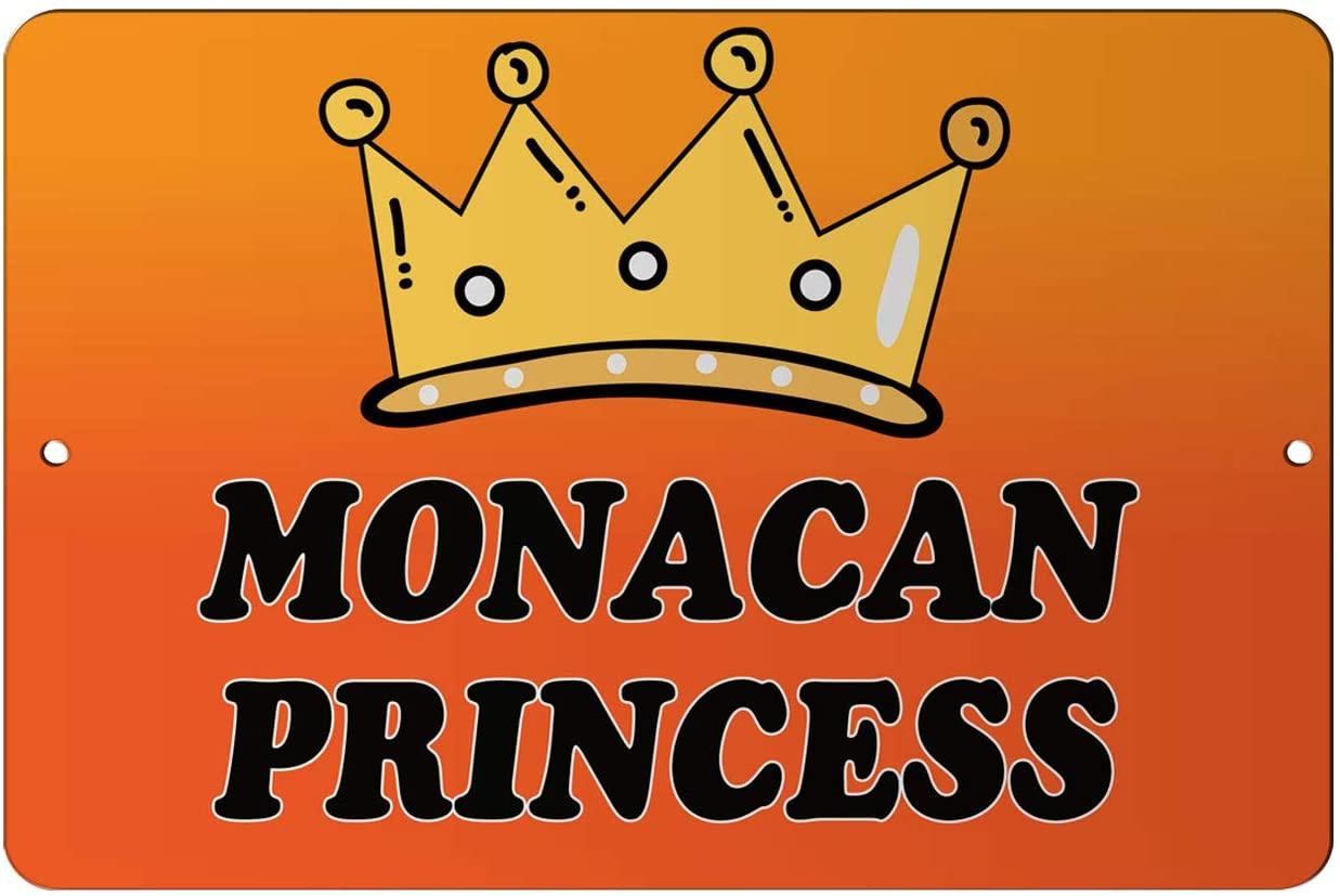 Makoroni - Monacan Princess Girly Princess 12x18 inc Aluminum Decorative Wall Street Sign