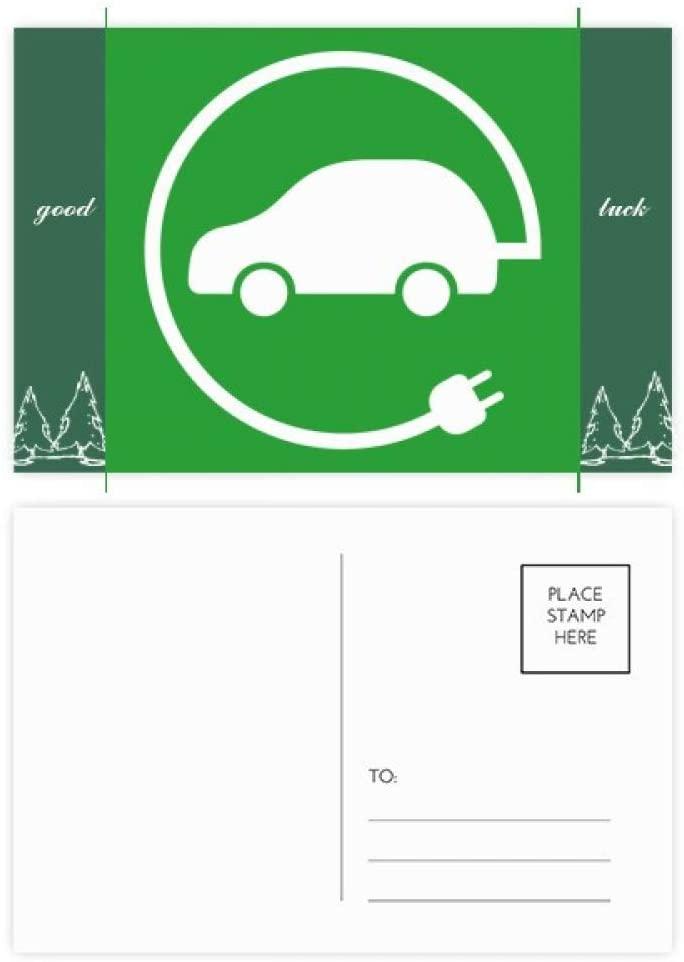 Circular Plug Energy Vehicles Protect Environment Good Luck Postcard Set Card Mailing Side 20pcs