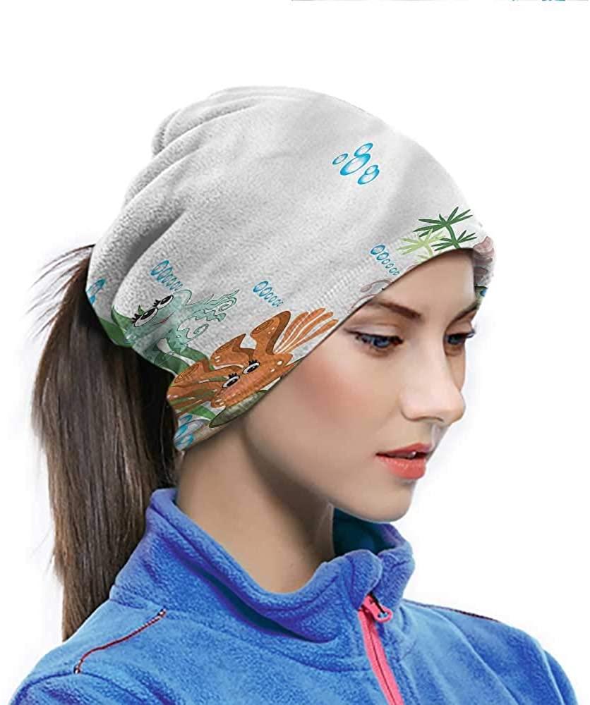 Cycling Scarf Jellyfish, Kids Cartoon Aquarium Multifunctional Headwear Multi-functional and Dependable 10 x 11.6 Inch