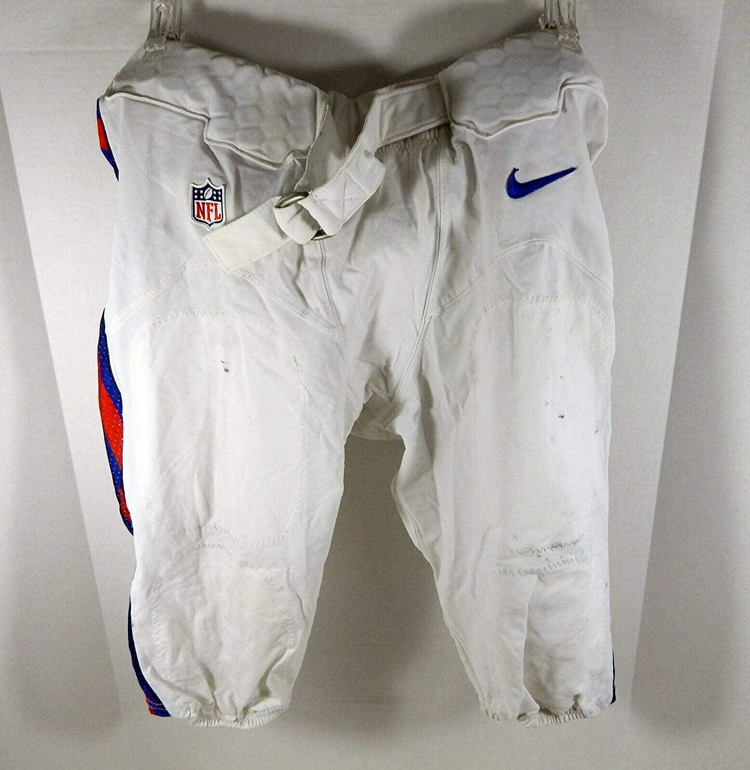 2012-15 Buffalo Bills #71 Game Used White Shorts 40 BILL0520 - NFL Game Used