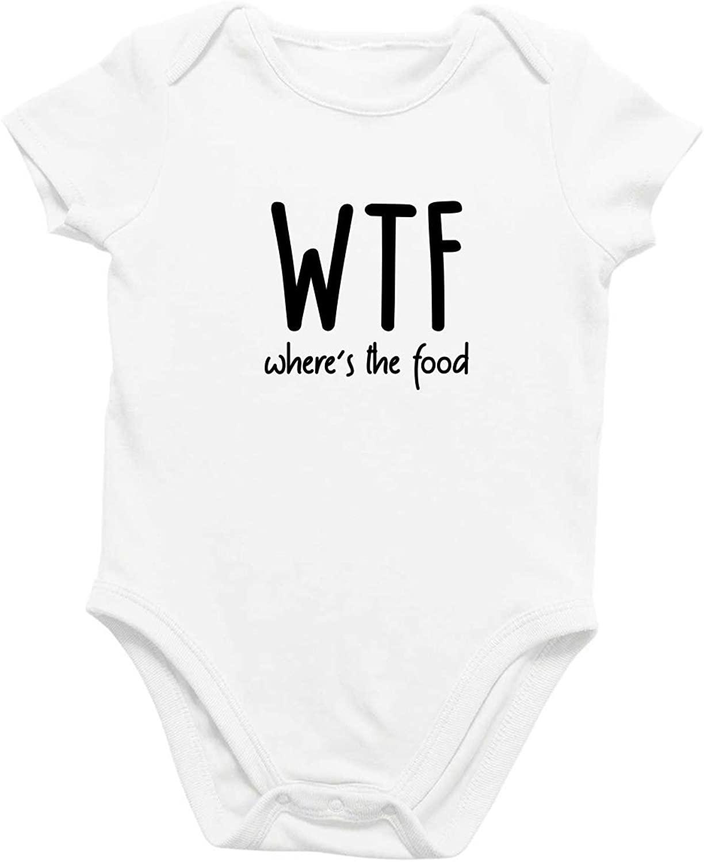 Onesie Organic Baby One Piece Short Sleeve Funny Trendy Minimal Bodysuit 0-12 Months - Where's The Food