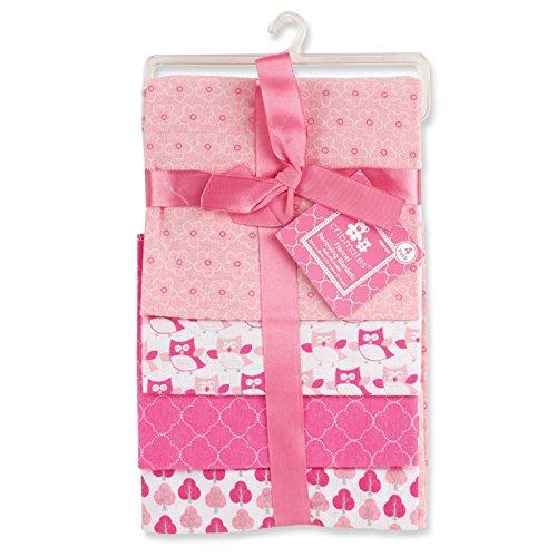 Regent Baby 4 Piece Crib Mates Receiving Blankets, Pink