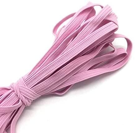 5 Yards Flat Elastic 1/4 Inch for Sewing Craft DIY Apparel-Colored Elastic Bands for Sewing Crafts Decoration-Elastic Ribbon for Sewing Craft Decoration-Multiple Thickening Satin Elastic DIY
