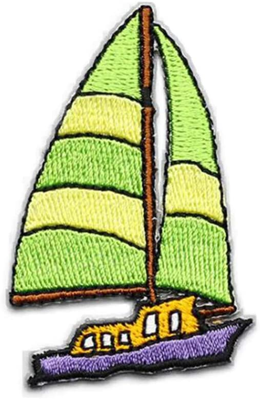 Essencedelight Cloth Sticker Patches Embroidered Patch Sailing Stickers Badges Decoration Sailboat Sailing Patches Applique Repair DIY Clothing