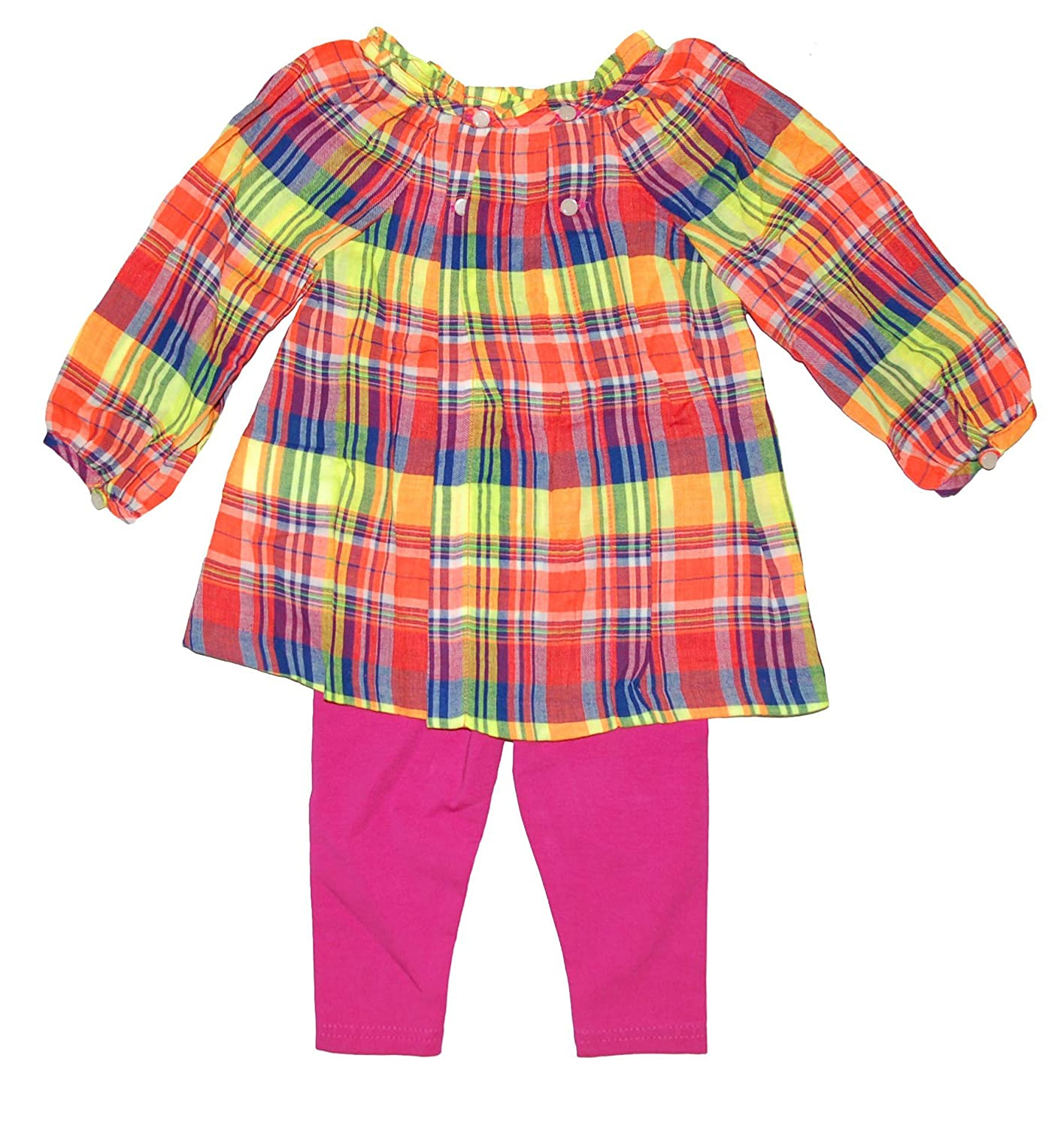 Ralph Lauren Polo Baby Girls Plaid Tunic & Stretch Cotton Leggings Set (24 Months)