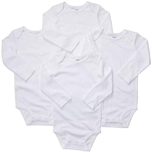 Carters Long Sleeve White (6MO)