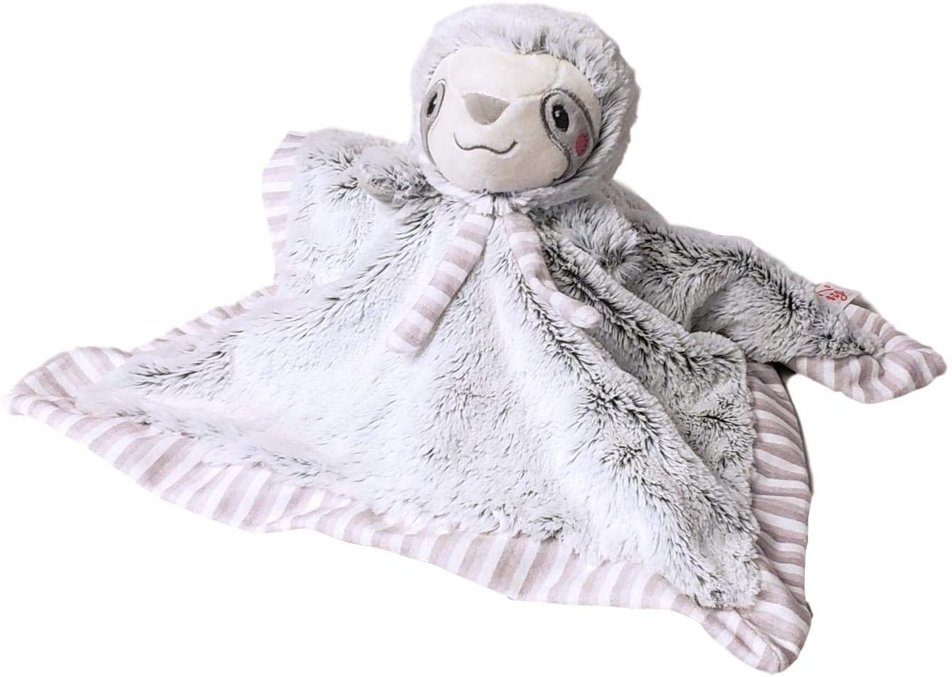 SONA G DESIGNS Sloth Lovie Lovey Security Blanket with Rattle Head - Can Be Personalized (Sloth)