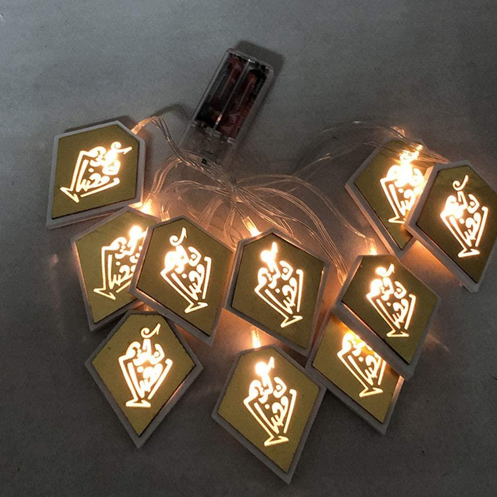 minansostey Eid Mubarak Element Handmade Wire 7/10/14 LED Light String Eid Ramadan Islamic