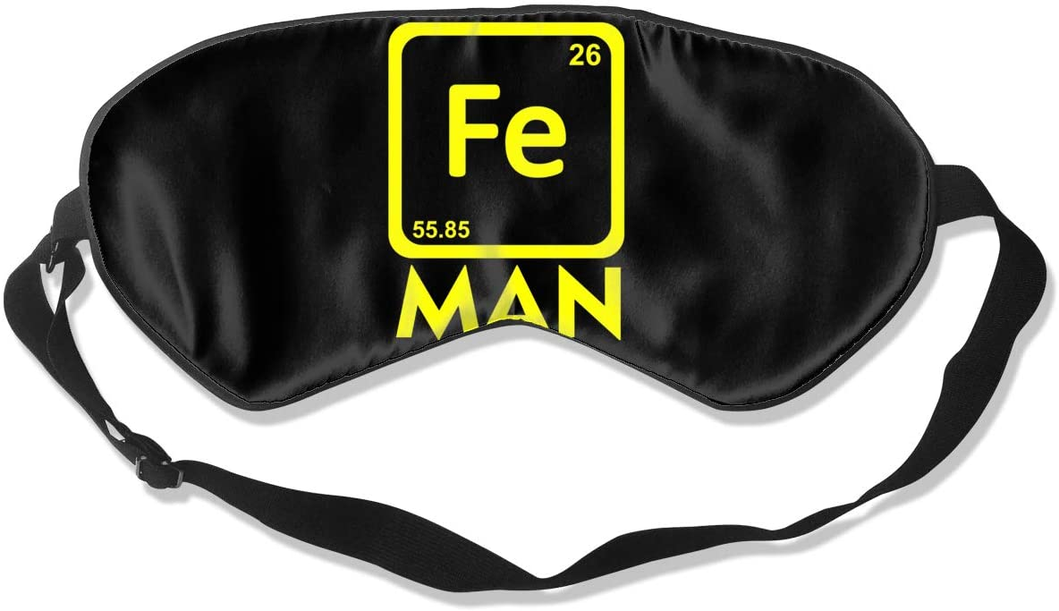 Chemistry Fe Periodic Table Eye Mask Sleeping Mask 100% Double-Sided Silk Eyeshade Eye Cover