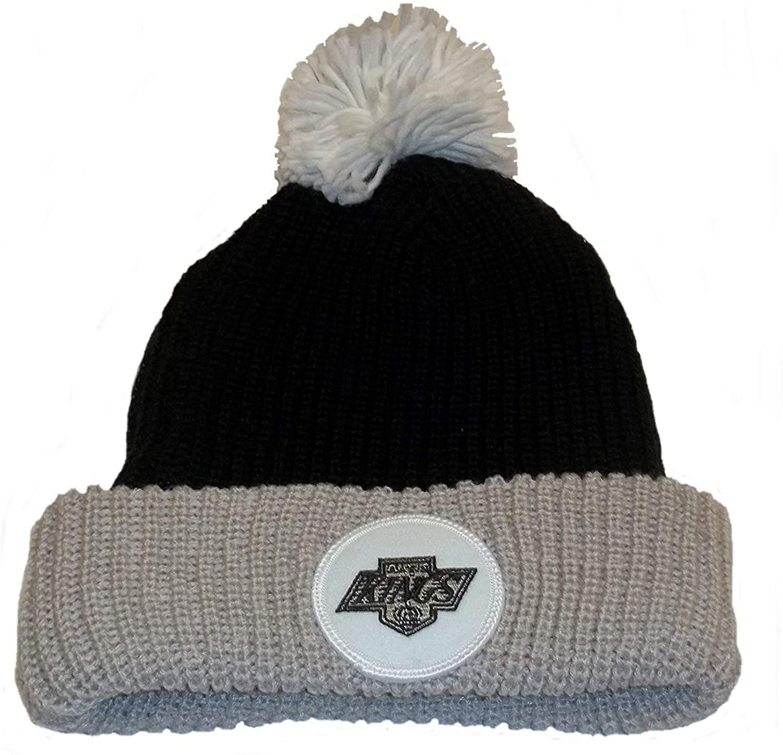 Los Angeles Kings Cuffed Knit Hat w/Pom by Mitchell&Ness Kn31z