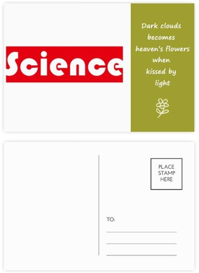 Course And Major Science Red Poetry Postcard Set Thanks Card Mailing Side 20pcs