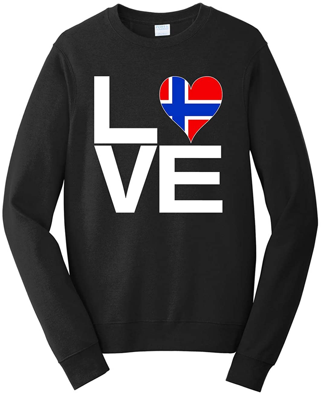 Tenacitee Men's Love Block Norway Heart Sweatshirt