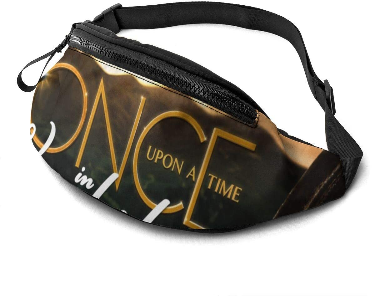 Qwertyi Once Upon A Time in Wonderland Not Limited to Men and Women Running Waist Packs Casual Waist Bag