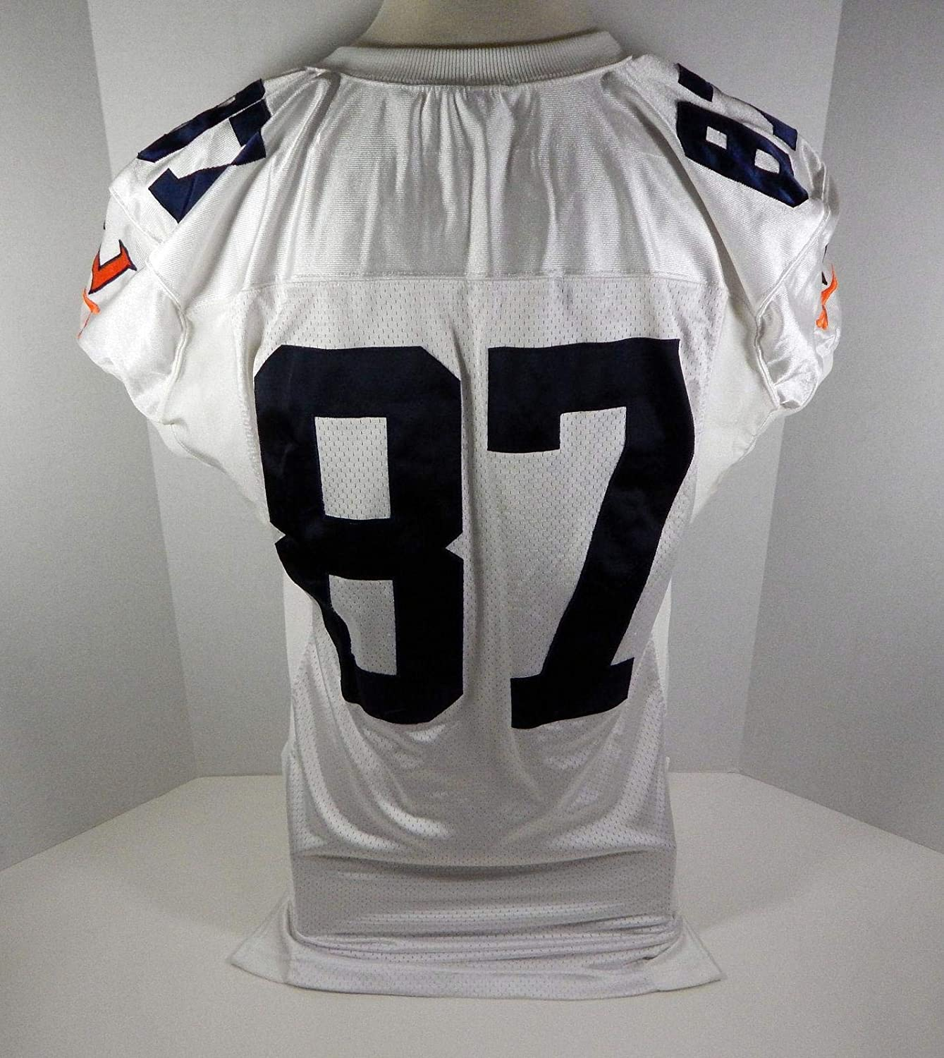 2003 Virginia Cavaliers Patrick Estes #87 Game Used White Jersey - College Game Used