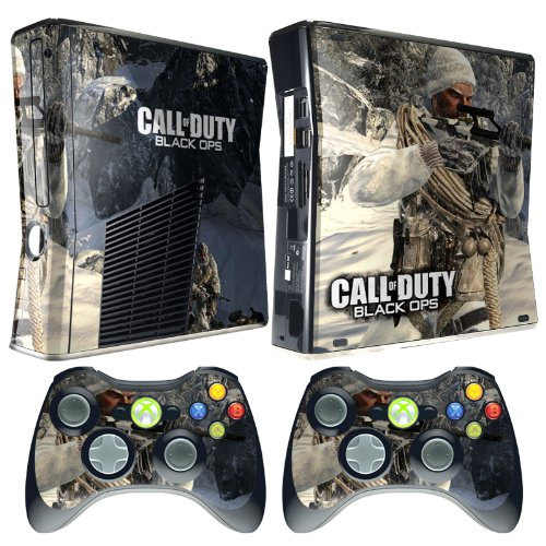 Meestick Call of Duty BO Arctic Vinyl Adhesive Decal Skin for Xbox 360 Slim