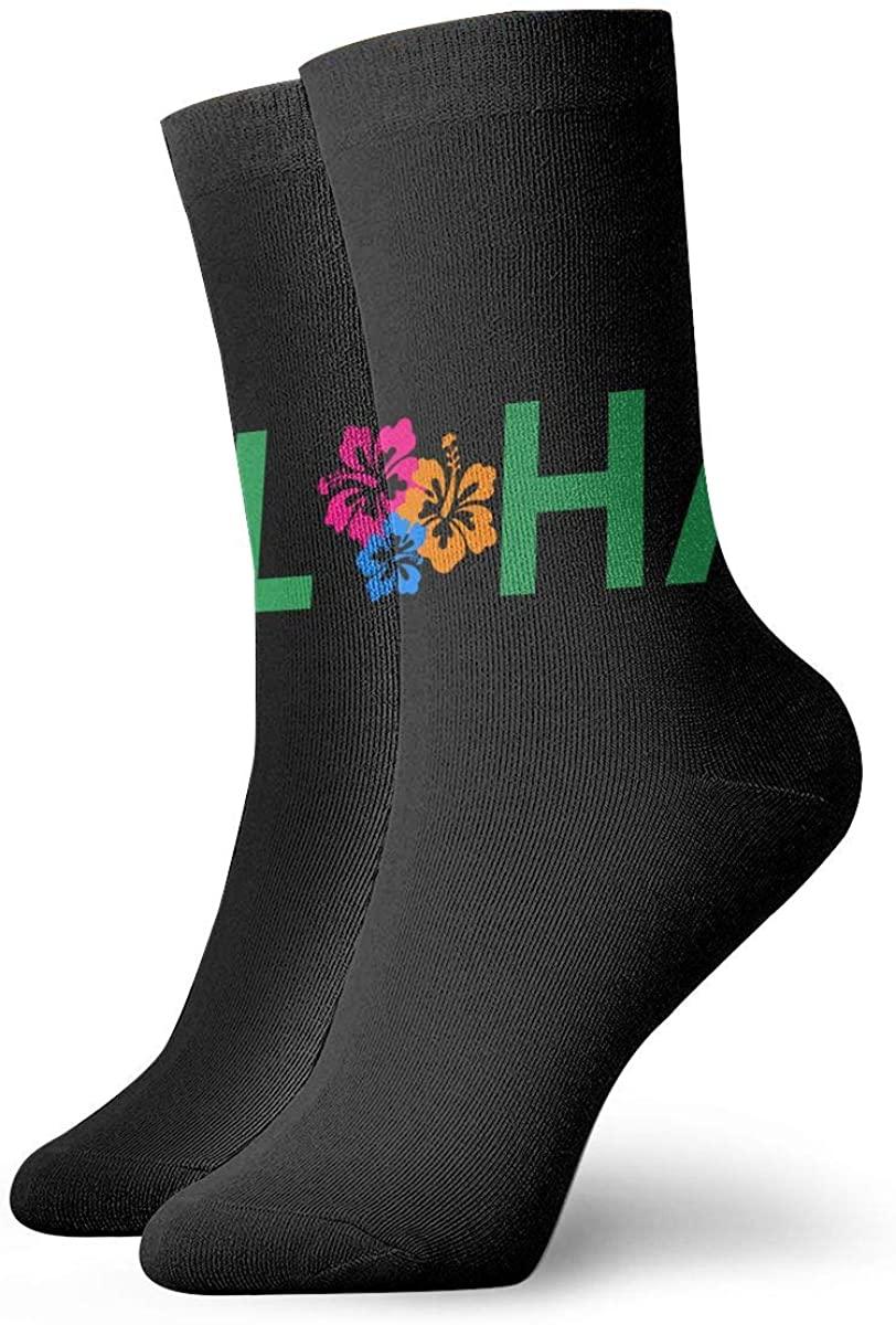 Aloha Hawaiian Flower Short Crew Socks Dress Socks Athletic Socks