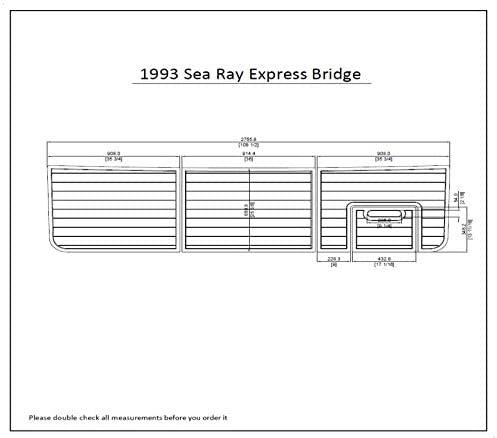 1993 Sea Ray Express Bridge Swim Platform Pad 1/4
