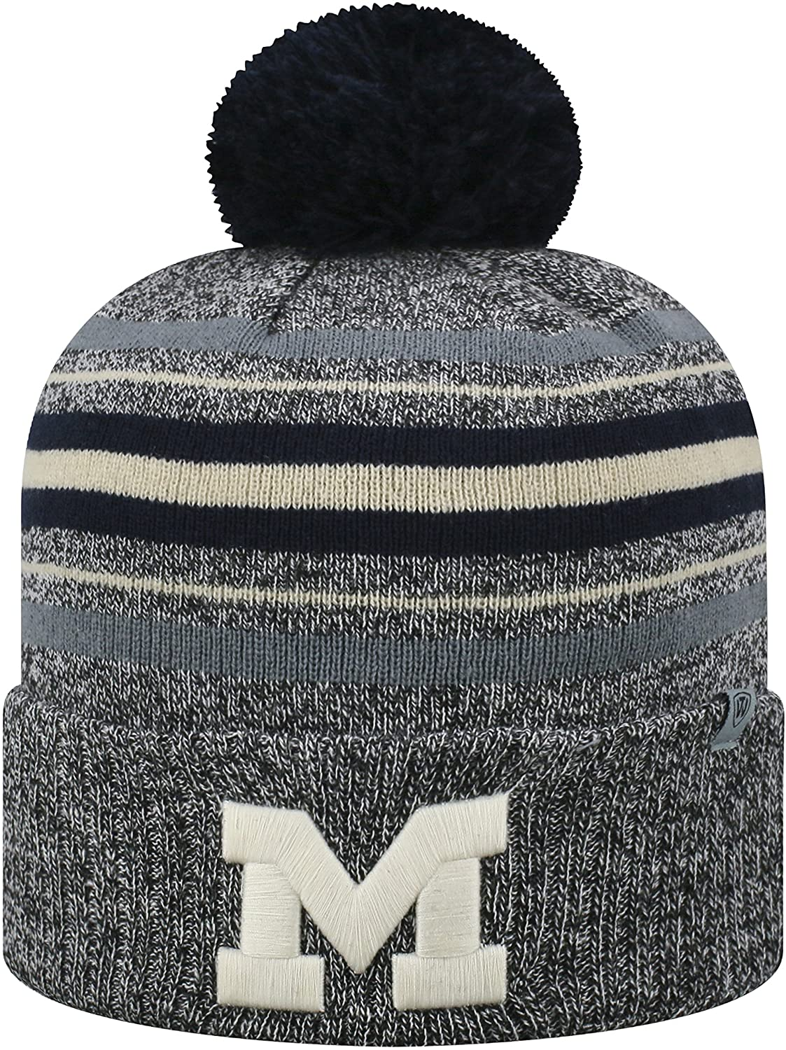 Top of the World Michigan Wolverines Official NCAA Cuffed Knit Sock Hop Stocking Stretch Hat Cap Beanie Pom 473017