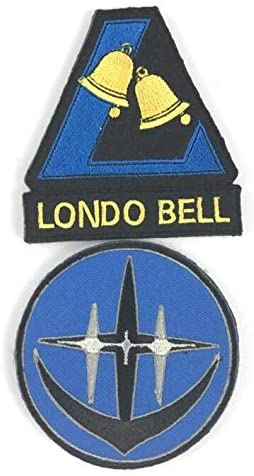 Mobile Suit Gundam UC Unicorn Londo Bell Embroidery Patch Military Tactical Morale Patch Badges Emblem Applique Hook Patches for Clothes Backpack Accessories