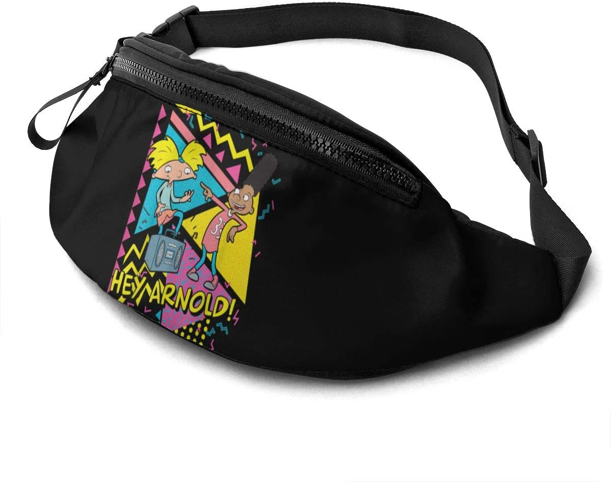 Qwtykeertyi Hey Arnold! Unisex Fanny Packs for Outdoors Sport Traveling Casual Running Gym with Adjustable Strap Casual Waist Bag