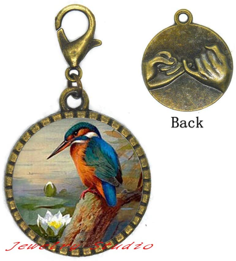 Silver Bird Zipper Pull, Bird Lobster Clasp, Simple Everyday Silver Jewelry-HZ0078