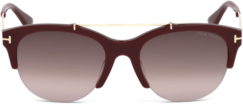 Tom Ford Womens Adrenne Pilot UV Protection Semi-Rimless Sunglasses