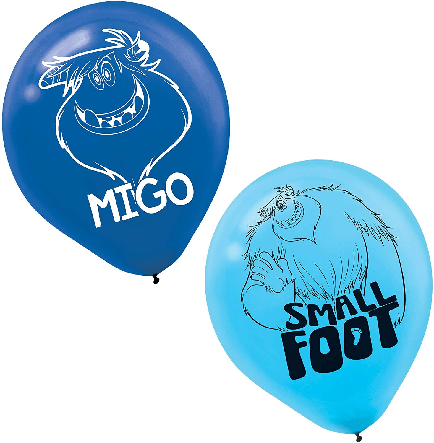 SMALLFOOT Printed Latex Balloons - Asst. Colors - 6 in a package