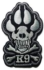 Dog Paw Claw Embroidery Patch Military Tactical Morale Patch Badges Emblem Applique Hook Patches for Clothes Backpack Accessories