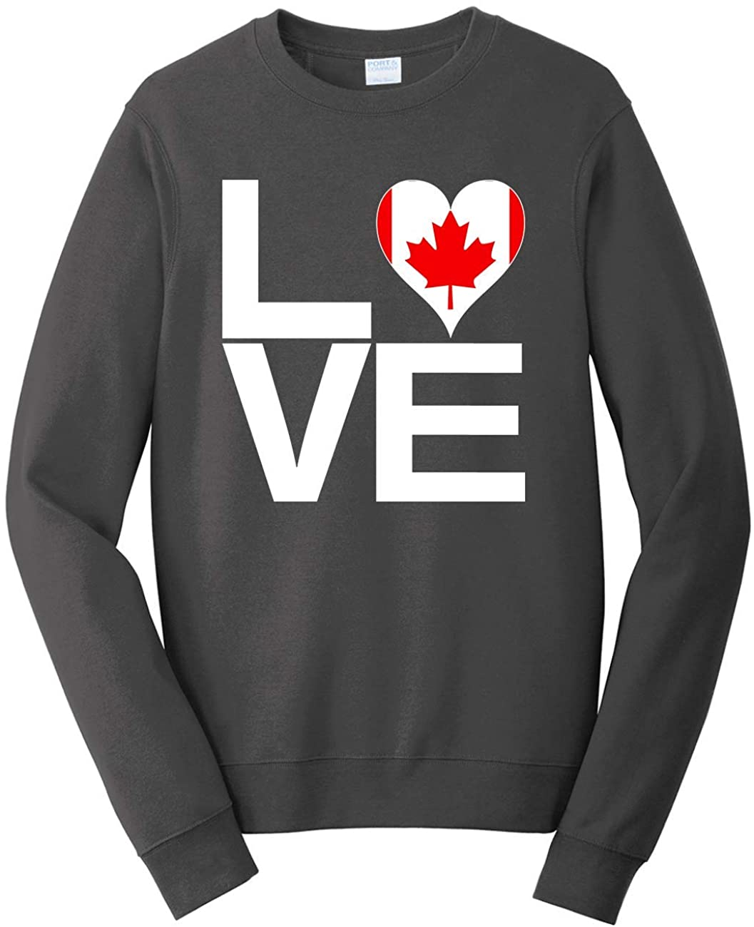 Tenacitee Men's Love Block Canada Heart Sweatshirt
