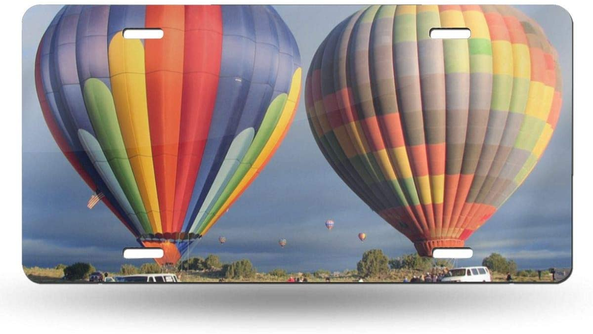 """Colorful Hot Air Balloon Flying Sky Interesting Personality License Plate Cover Decorative Front Panel 6""""x12"""""""